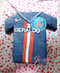 Paris Saint Germain voetbal shirt taart Jose bakery