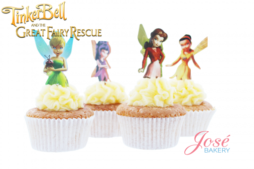 Tinkerbell cupcake toppers Jose bakery