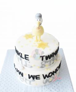 Gender reveal taart ooievaar 10 personen bestellen