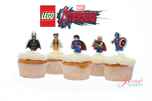 Avengers lego cupcake toppers
