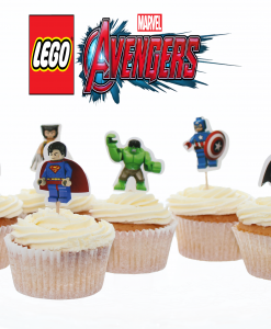Avengers lego cupcake toppers Jose bakery