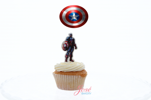 Captain America cupcake toppes Jose bakery