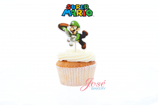 Luigi cupcake toppers Jose bakery