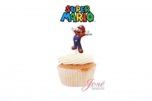 Mario cupcake toppers Jose bakery