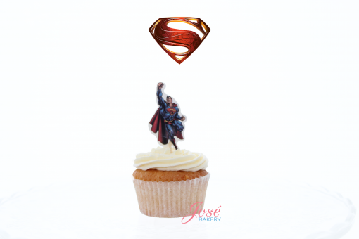 Superman cupcake toppers Jose bakery