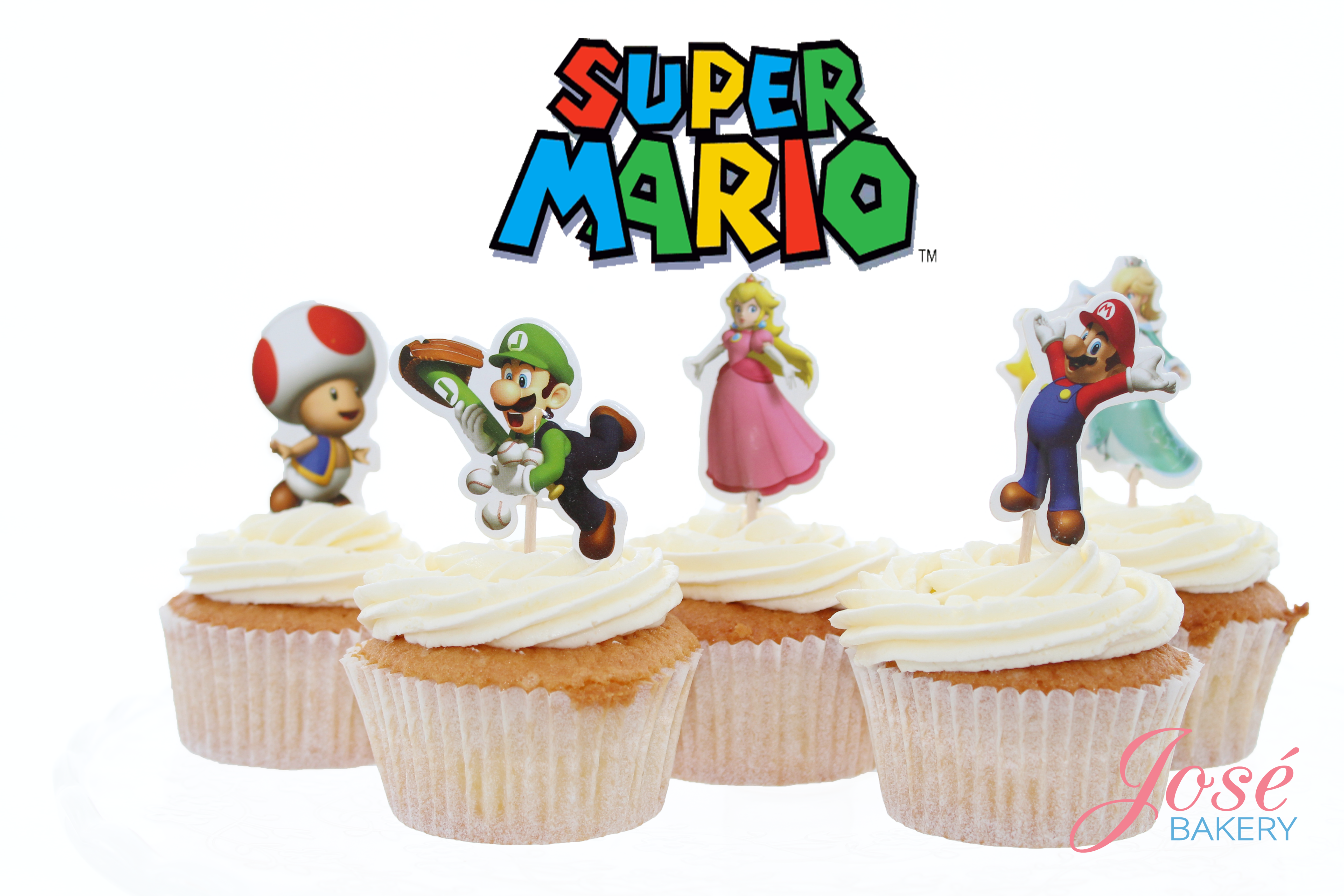 Supermario cupcake toppers