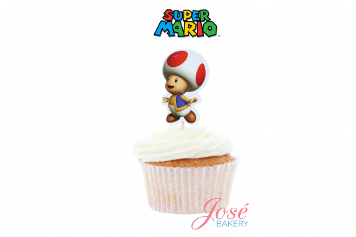 Toad cupcake toppers Jose bakery