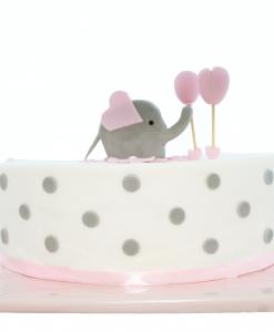 Babyshower taart olifant en ballonnen Jose bakery