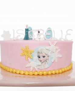 Froze taart Elsa roze 14 personen