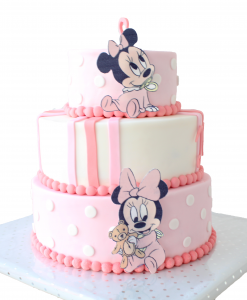 Minnie Mouse taart 20 personen