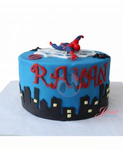 Spiderman taart 8 personen