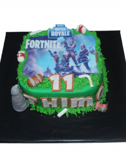 Fortnite kindertaart 9 personen