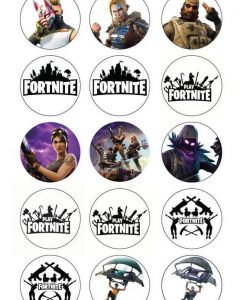 Fortnite cupcakes prints 12 stuks