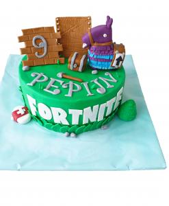 Fortnite taart llama 9 personen