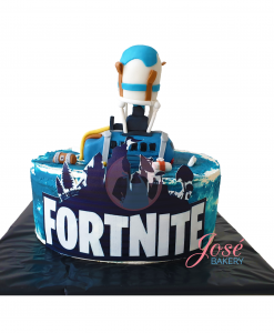 Fortnite taart met shuttle bus 15 personen
