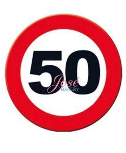 50 jaar taart print 20 cm