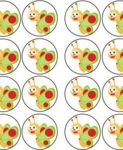 BabyTV eetbare cupcake prints 24 stuks