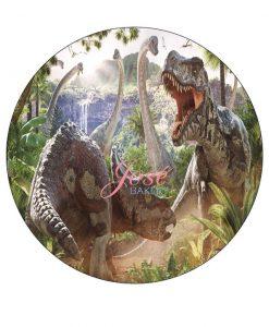 Dinosaurus taart print 20 cm