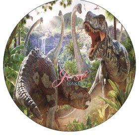 Dinosaurus taartprint 20 cm