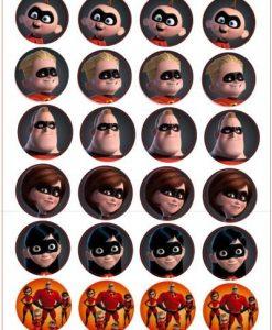 Incredibles cupcake prints 24 stuks
