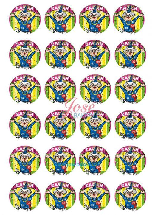 Sarah cupcake prints 24 stuks