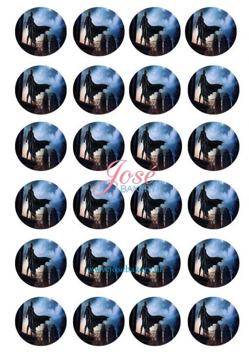 Batman cupcake prints 24 stuks