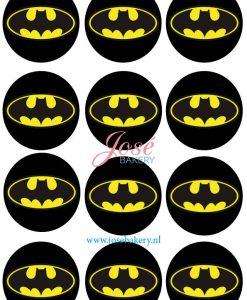 Batman logo cupcake prints 12 stuks