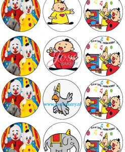 Bumba cupcake prints 12 stuks