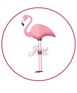 Flamingo eetbare taart print 20 cm