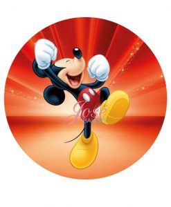Mickey Mouse taart print 20 cm
