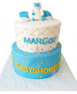 Babyshower taart beertje schoentjes 20 personen